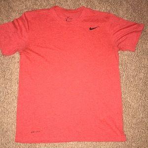 Nike Dri-fit Shortsleeved Shirt- Blaze Red